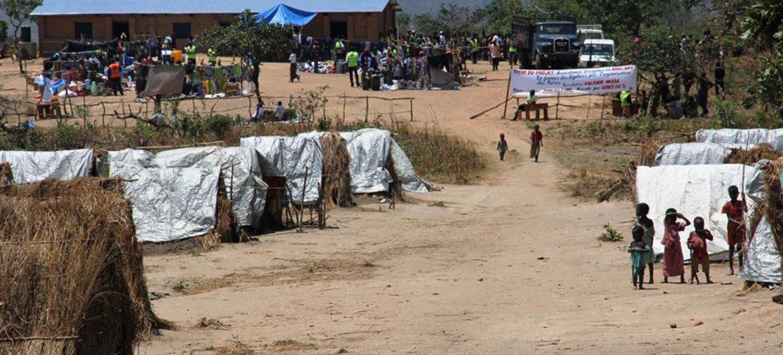 Campo de desplazados en Katanga, República Democrática del Congo  Foto: OCHA/Gemma Cortes