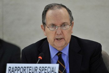 联合国酷刑问题特别报告员门德斯资料图片。联合国图片/Mark Garten