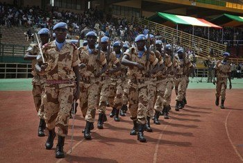 UN Peacekeepers from Chad serving with the UN mission in Bamako, Mali.