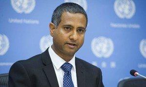 Le Rapporteur spécial sur la situation des droits de l'homme en Iran, Ahmed Shaheed. Photo ONU/Amanda Voisard