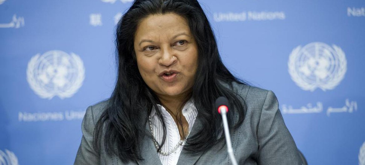 Special Rapporteur on the situation of human rights in Eritrea Sheila B. Keetharuth.