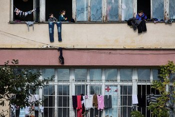 Migrants and asylum-seekers, mostly Syrian Kurds, have crowded into an abandoned schoolhouse on the outskirts of the Bulgarian capital Sofia.
