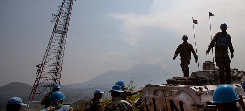 MONUSCO troops near Kibumba in North Kivu along the Goma - Rutshuru road, Democratic Republic of the Congo, DRC.