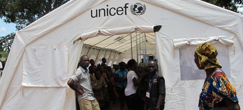 Un centre de l'UNICEF à Bossangoa en République centrafricaine.