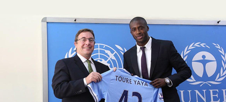 Achim Steiner y Yaya Touré