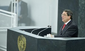 Foreign Minister Bruno Rodríguez Parrilla of Cuba addresses the General Assembly which renewed its call for an end to the US embargo against Cuba.