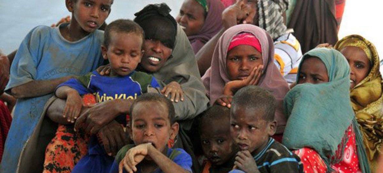Somali refugee children at Dadaab, Kenya, where WFP is providing emergency food aid.