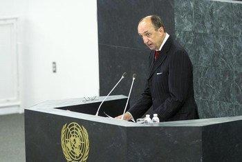 Le Président de la Cour internationale de Justice (CIJ), Peter Tomka.