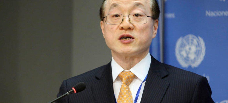 中国常驻联合国代表刘结一。联合国图片/Devra Berkowitz