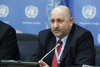 Le Président du Groupe de travail sur l'utilisation de mercenaires comme moyen d'empêcher l'exercice du droit des peuples à disposer d'eux-mêmes, Anton Katz.