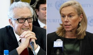 Lakhdar Brahimi, Joint Special Representative for Syria and Sigrid Kaag, Special Coordinator of the OPCW-UN Joint Mission.