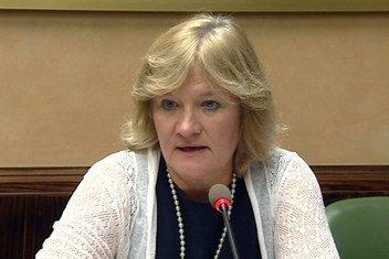 Claire Nullis, portavoz de la OMM durante una conferencia de prensa en Ginebra. Foto: ONU