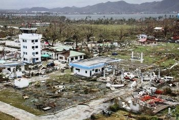 The airport in Tacloban City, the Philippines, was badly damaged in the wake of Typhoon Haiyan on 8 November 2013.