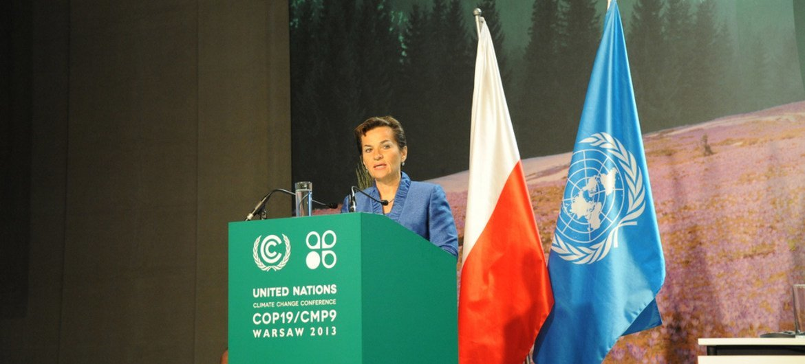 Executive Secretary of the UN Framework Convention on Climate Change (UNFCCC) Christiana Figueres addresses the opening of the 19th session in Warsaw, Poland.