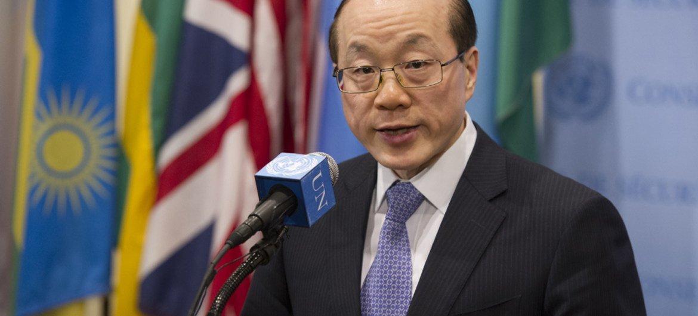 Security Council President, Ambassador Liu Jieyi of China.