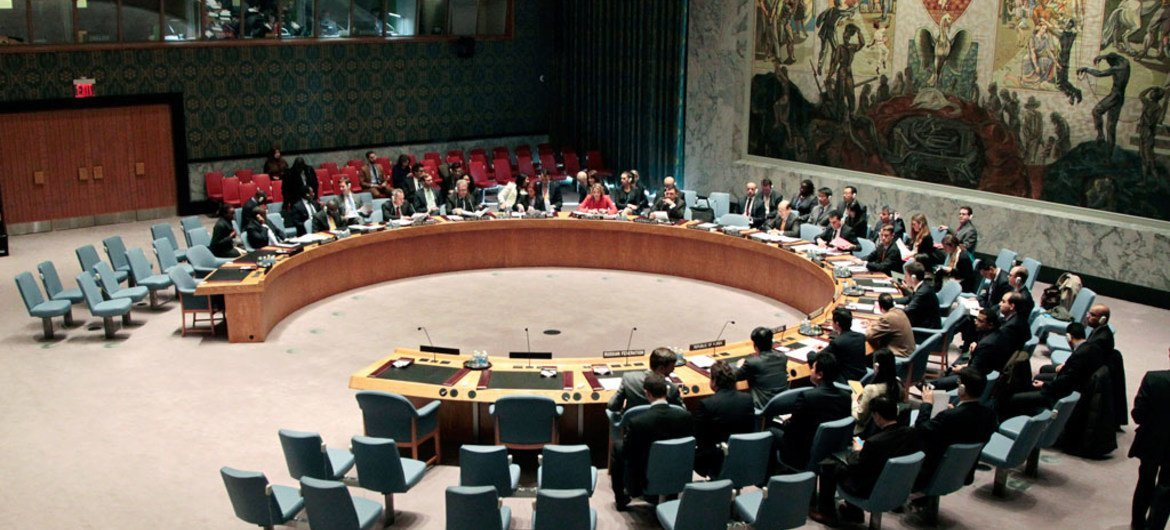 A wide view of the Security Council in session (file photo).