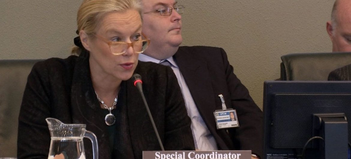 Sigrid Kaag, Special Coordinator of OPCW-UN Joint Mission addresses the OPCW Executive Council Meeting.