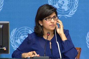 Ravina Shamdasani, porte-parole du Haut-Commissariat des Nations Unies aux droits de l'homme (HCDH).
