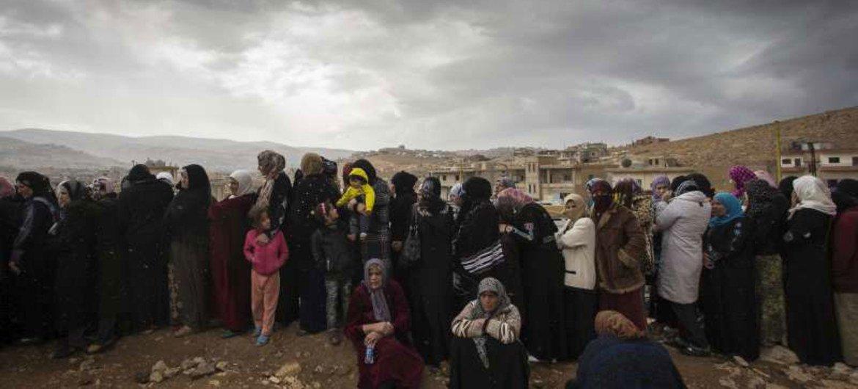 Refugiados sirios en Libano