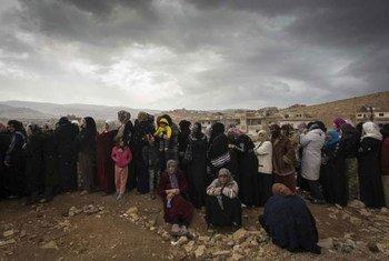 Refugiados sirios en Libano.