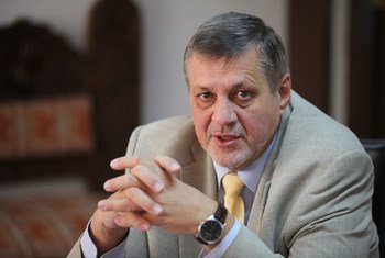Representante Especial del Secretario General para Afganistán, Ján Kubiš. Foto: Eric Kanalstein/UNAMA