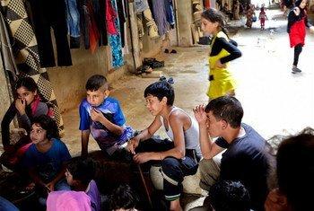 Des enfants réfugiés syriens au Liban.
