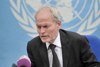 Le Représentant spécial du Secrétaire général pour la Somalie, Nicholas Kay.