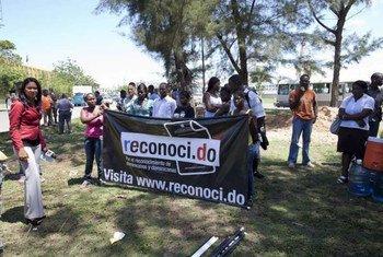Protesta en la República Dominicana sobre la situación de los apátridas  Foto archivo: ACNUR/ J. Tanner