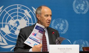 WIPO Director General Francis Gurry at the press launch of the Agency's annual report.