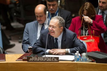 Special Representative and Head of the UN Support Mission in Libya (UNSMIL), Tarek Mitri, briefs the Security Council on the situation in that country.