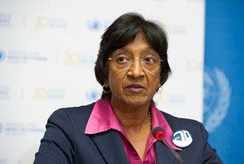 La Haut-Commissaire aux droits de l'homme des Nations Unies, Navi Pillay.