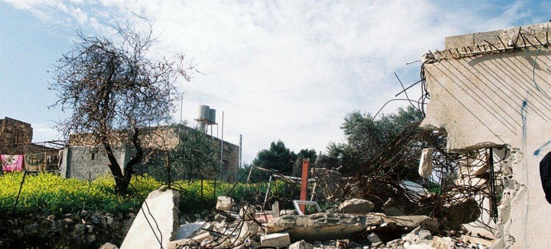Foto de Archivo - Vivienda demolida en Cisjordania (Foto: IRIN-Shabtai Gold)