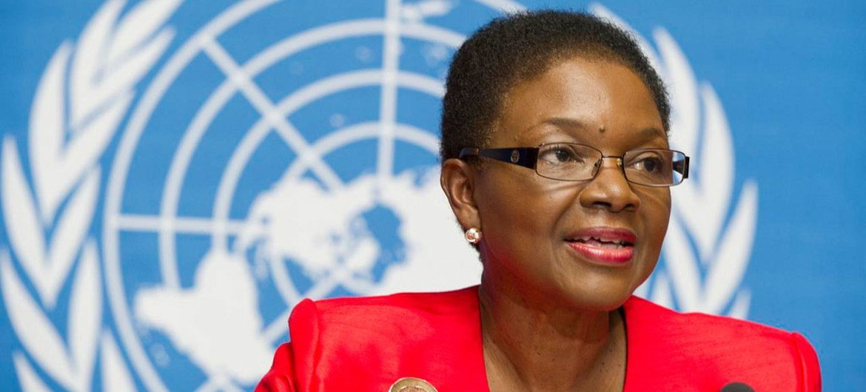 Under-Secretary-General for Humanitarian Affairs Valerie Amos at Geneva launch of humanitarian response plans for 2014.