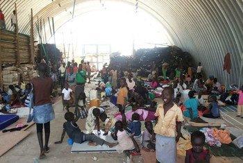 Civiles en instalaciones de la ONU en Juba (Foto: UNMISS-Julio Brathwaite)