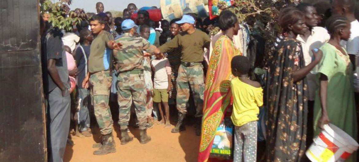 UNMISS peacekeepers have been assisting displaced civilians in South Sudan by providing protection, building sanitation facilities and giving medical support.