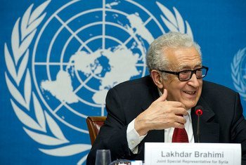 Joint UN-Arab League envoy Lakhdar Brahimi holds press conference in Geneva.