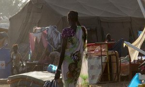 Civilians seeking refuge at the UNMISS Tomping compound in Juba, the capital of South Sudan.