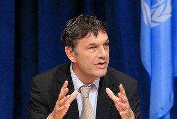 联合国驻黎巴嫩人道主义协调员拉扎里尼(Philippe Lazzarini)。联合国图片/Ryan Brown