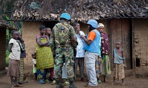 Peacekeepers serving with the UN Organization Stabilization Mission in the Democratic Republic of the Congo (MONUSCO) on patrol.