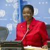 Under-Secretary-General for Humanitarian Affairs and Emergency Relief Coordinator Valerie Amos briefs the press.