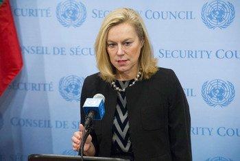 Sigrid Kaag, Coordinatrice spéciale de la Mission conjointe OIAC-ONU pour l'élimination des armes chimiques de Syrie. Photo ONU/Evan Schneider