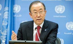 Le Secrétaire général de l'ONU, Ban Ki-moon. Photo ONU/Eskinder Debebe