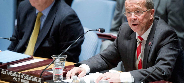 Le chef de la Mission des Nations Unies en République démocratique du Congo (MONUSCO), Martin Kobler.
