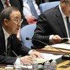 El Secretario General Ban Ki-moon interviene en el Consejo de Seguridad Foto archivo: