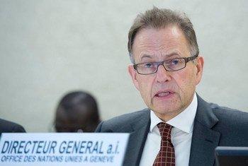 联合国驻日内瓦办事处负责人默勒。联合国图片/Jean-Marc Ferré