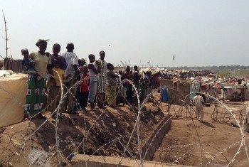Desplazados en el aeropuerto de Bangui, República Centroafricana Foto; OCHA/R. Gitau