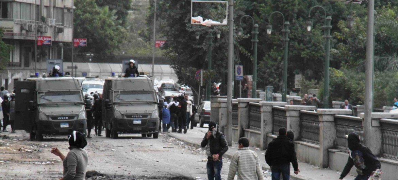Manifestantes en El Cairo, Egipto  Foto archivo IRIN/Amr Emam