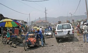 A market street in Goma, the capital of the eastern province of North Kivu in the Democratic Republic of the Congo (DRC).