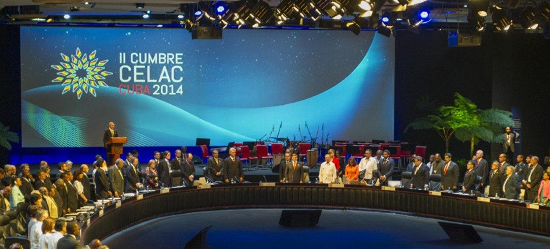 Session inaugurale du Sommet de la Communauté des Etats d'Amérique latine et des Caraïbes (CELAC) à La Havane. Photo ONU/Mark Garten