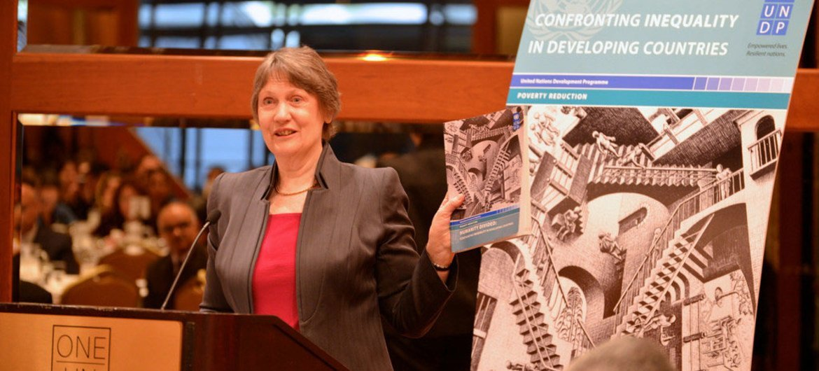 """Administrator Helen Clark launches UNDP Report """"Humanity Divided – Confronting Inequality in Developing Countries."""""""